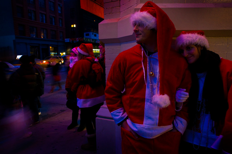 Love in the Time of Santa : Astor Place & Lafayette St : New York City