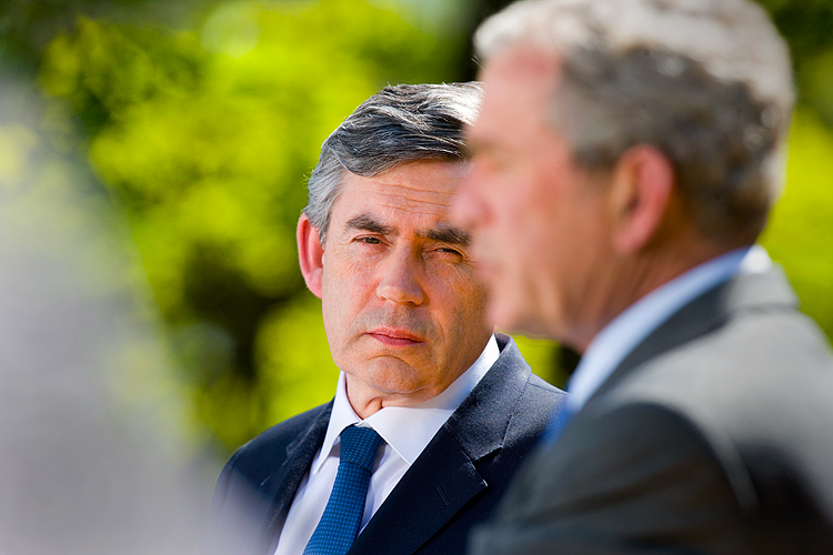 British Prime Minister Gordon Brown : White House DC : USA