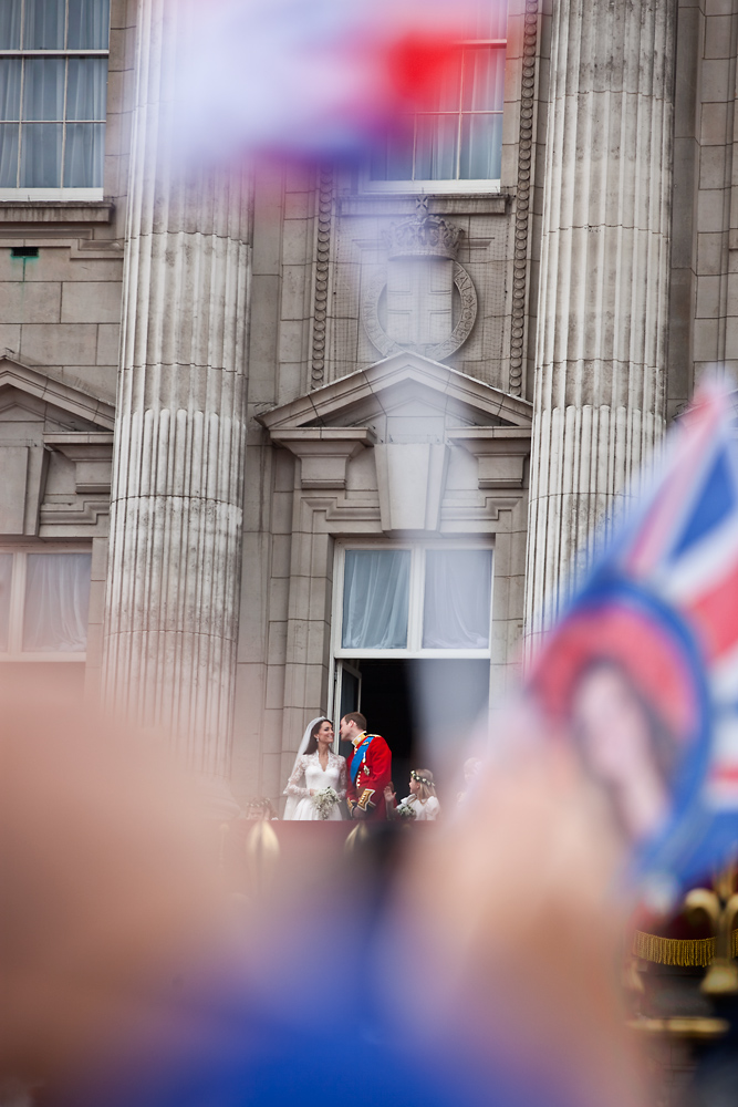 William and Kate Royal Wedding : Balcony Buckingham Palace : London