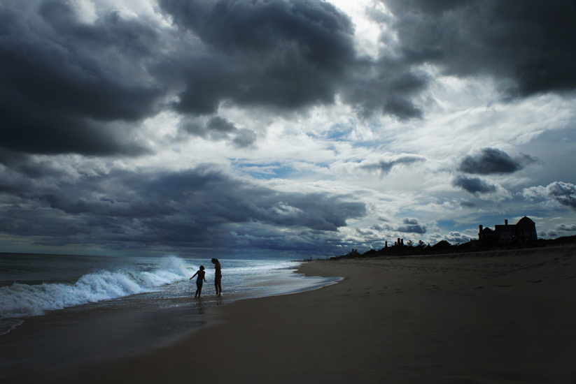 Dark Clouds Over the Hamptons Beaches : Southampton : NY