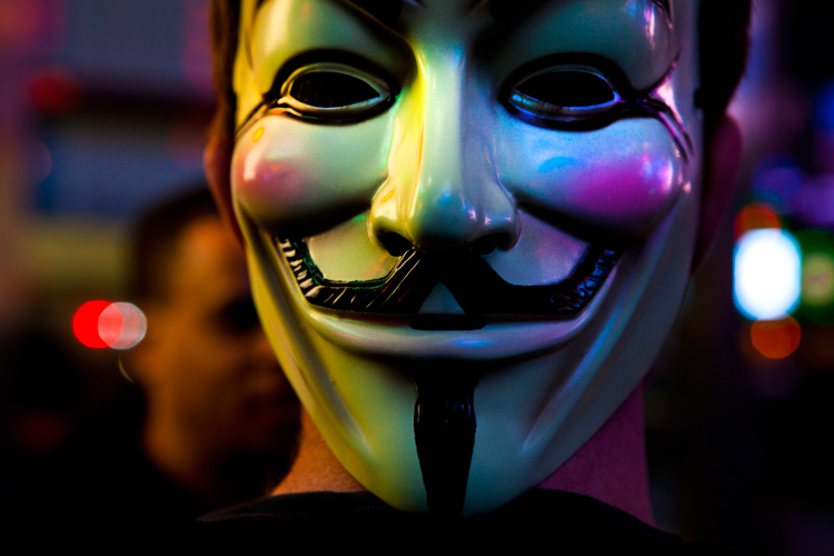 Guy Fawkes Mask On Black Background Wallpaper Picture