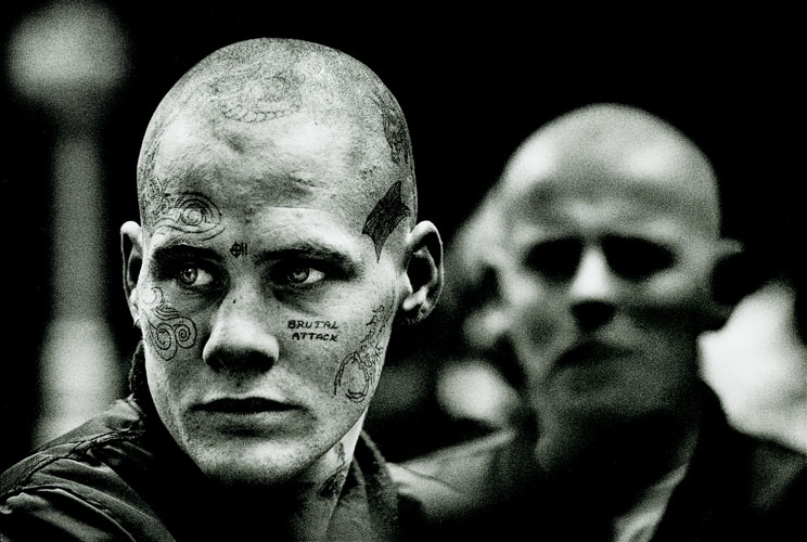 Kodak Tri-X and Skinheads : National Front Demo : London
