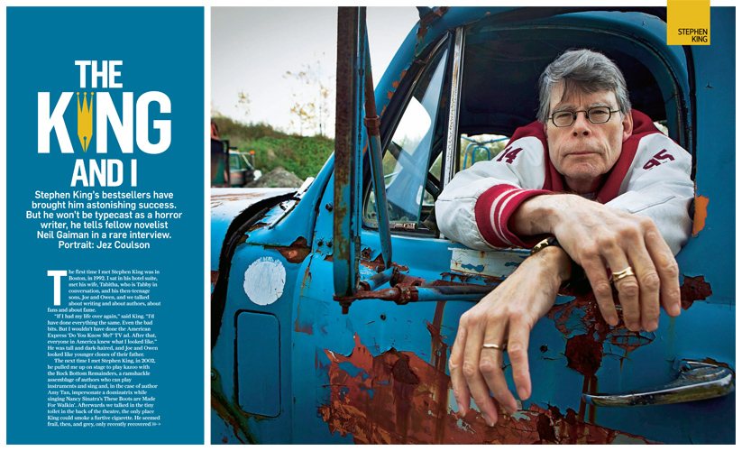 The King in his Counting House : Writer Stephen King : Bangor Maine : USA