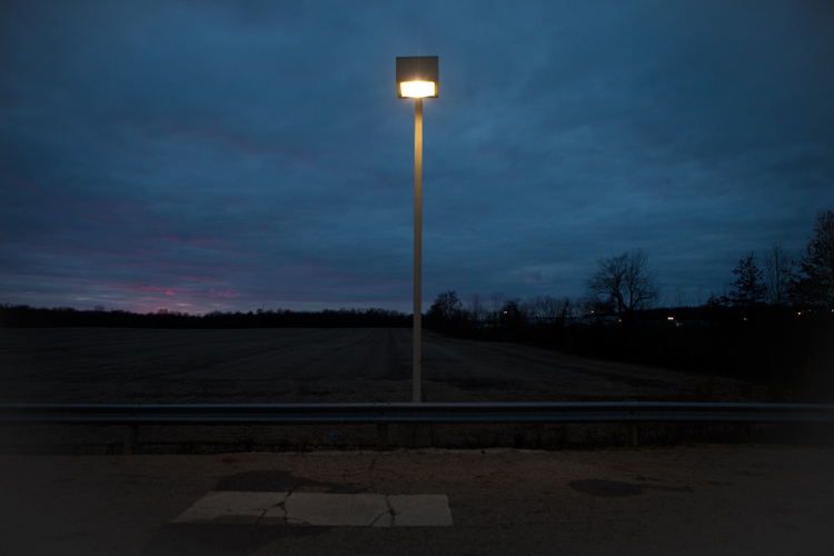Gas Station Lamp On The Edge of Columbus : Ohio : USA