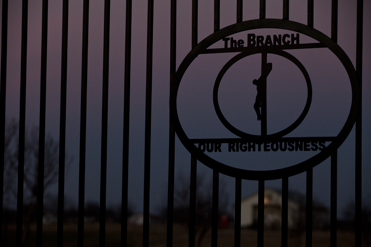 Gate of The Branch Davidian Compound 2013 :  Waco : Texas