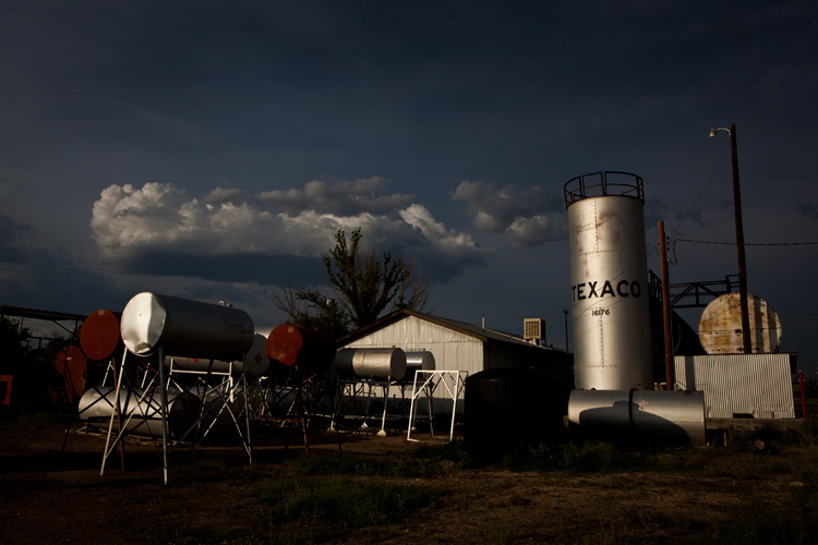 Marfa Fuel Tanks : Waiting for Rain in The High Desert : Texas