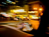 Taxi Heading Down Town : 37th and 5th Av : NYC