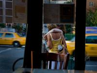 Embrace and Taxi - Diner View: Chelsea Sq Diner 23 & 9th Av : NYC