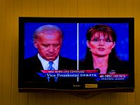 Is She Crazy or is it Just Me ? Palin Biden TV Debate : Portsmouth : Rhode Island USA