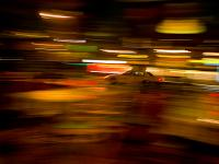 Iconic Taxi Blur : 23rd St and 9th Av : NYC