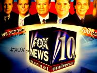 Taking a jaundiced view : Fox/Faux News : Train Bronx NYC