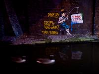 Banksy Forced to Fish for Street Cred : Camden : London