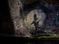 Banksy Rat : Regents Canal : London