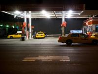 Gas Guzzlers Guzzling : Gas Station 10th Av :  NYC