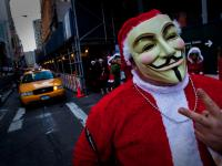 V for Vendetta Santa : Wall St : NYC