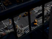 High Above : New York City Street Manhattan : USA