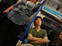 Up Hill Battle to Stay Awake on the Tube : Piccadilly Line : London