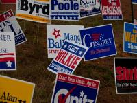 Muddle of Election Posters : Marietta GA : USA