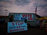 End of the Day Romney Supporters Truck : Columbus : Ohio