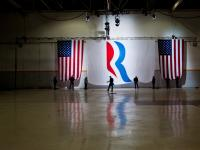 The End of the Campaign the Lowering of The Flag : Romney Final Event : Columbus Ohio