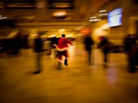 Cutting it Fine Santa : Grand Central : New York City