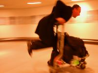 Off his Trolley : Heathrow Airport : London UK