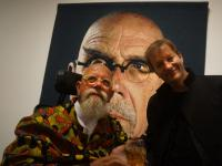 Jez Coulson and Chuck Close : Guild Hall : East Hampton NY : USA
