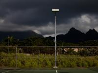 Storm Light : Waimanalo District Park : Oahu Hawaii