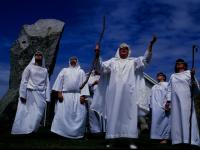 Druids Welcome a Solar Eclipse : Cornwall : UK