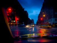 Taxis at Dawn : 23rd and 9th Av : NYC