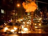 Beast Cabs in Steam : Lexington and 65th St : NYC