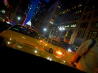 Taxi Jam with Man : 7th Av Times Sq : NYC