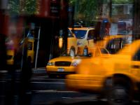Yellow Taxis : Don't Think About Them : 9th Av and 23rd St : NYC
