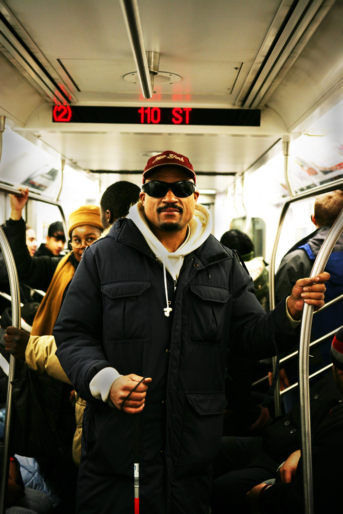 Blind Man on the Subway : 110th St - 2 line : NYC