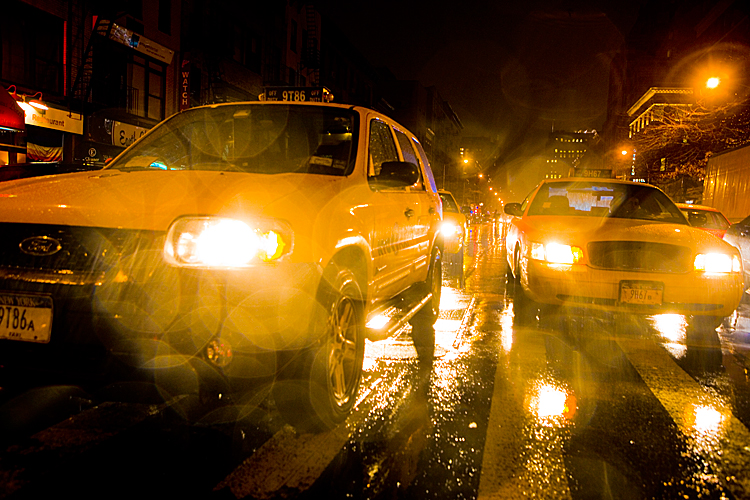 Taxi Rain and the City 3 : 23rd and 8th Av : NYC