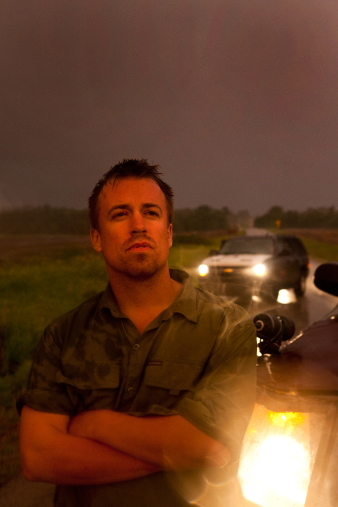 Reed Timmer Meteorologist and Extreme Storm Chaser with The Dominator 2 : Kansas