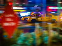 Yellow Cabs on 8th Av at 23rd St : NYC : USA
